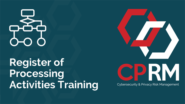 Learn all about the GDPR's Register of Processing Activities during this 4hr training
